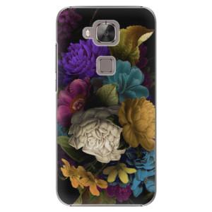 Plastové pouzdro iSaprio Dark Flowers na mobil Huawei G8