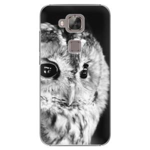 Plastové pouzdro iSaprio BW Owl na mobil Huawei G8