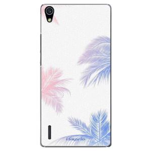 Plastové pouzdro iSaprio Digital Palms 10 na mobil Huawei P7