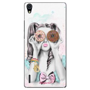 Plastové pouzdro iSaprio Donuts 10 na mobil Huawei P7