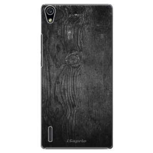 Plastové pouzdro iSaprio Black Wood 13 na mobil Huawei P7