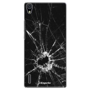 Plastové pouzdro iSaprio Broken Glass 10 na mobil Huawei P7