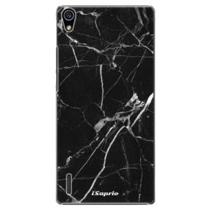 Plastové pouzdro iSaprio Black Marble 18 na mobil Huawei P7