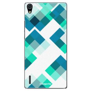 Plastové pouzdro iSaprio Abstract Squares 11 na mobil Huawei P7