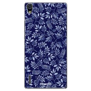 Plastové pouzdro iSaprio Blue Leaves 05 na mobil Huawei P7