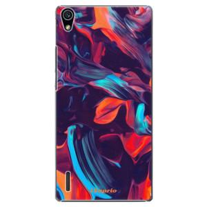 Plastové pouzdro iSaprio Color Marble 19 na mobil Huawei P7