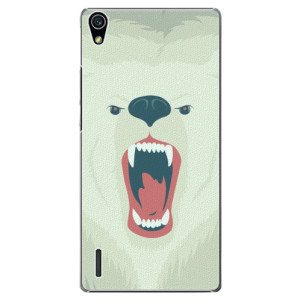 Plastové pouzdro iSaprio Angry Bear na mobil Huawei P7