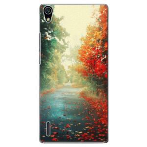 Plastové pouzdro iSaprio Autumn 03 na mobil Huawei P7
