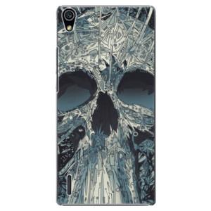 Plastové pouzdro iSaprio Abstract Skull na mobil Huawei P7