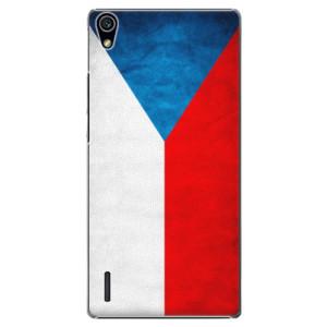Plastové pouzdro iSaprio Czech Flag na mobil Huawei P7