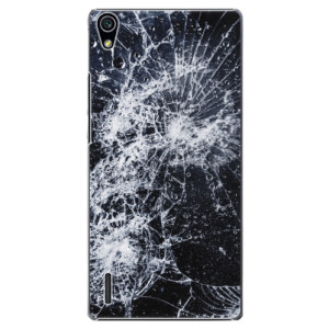 Plastové pouzdro iSaprio Cracked na mobil Huawei P7