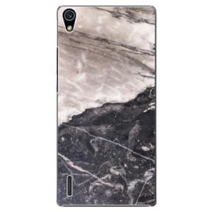 Plastové pouzdro iSaprio BW Marble na mobil Huawei P7