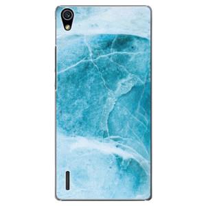 Plastové pouzdro iSaprio Blue Marble na mobil Huawei P7