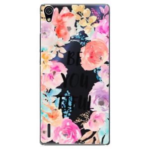 Plastové pouzdro iSaprio BeYouTiful na mobil Huawei P7