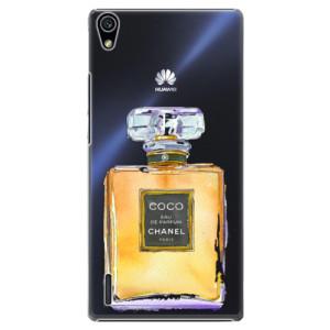 Plastové pouzdro iSaprio Chanel Gold na mobil Huawei P7