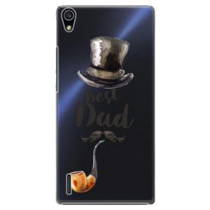 Plastové pouzdro iSaprio Best Dad na mobil Huawei P7