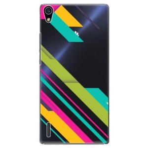 Plastové pouzdro iSaprio Color Stripes 03 na mobil Huawei P7