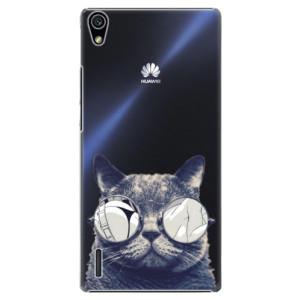 Plastové pouzdro iSaprio Crazy Cat 01 na mobil Huawei P7