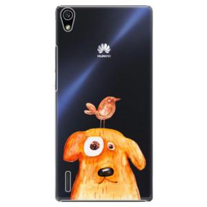 Plastové pouzdro iSaprio Dog And Bird na mobil Huawei P7