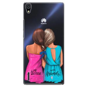 Plastové pouzdro iSaprio Best Friends na mobil Huawei P7