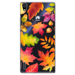 Plastové pouzdro iSaprio Autumn Leaves 01 na mobil Huawei P7
