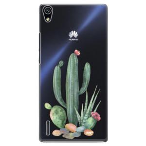 Plastové pouzdro iSaprio Cacti 02 na mobil Huawei P7