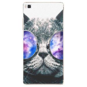 Plastové pouzdro iSaprio Galaxy Cat na mobil Huawei P8