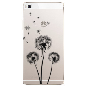 Plastové pouzdro iSaprio Three Dandelions black na mobil Huawei P8