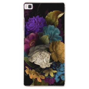 Plastové pouzdro iSaprio Dark Flowers na mobil Huawei P8