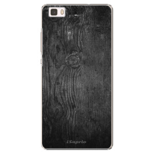 Plastové pouzdro iSaprio Black Wood 13 na mobil Huawei P8 Lite