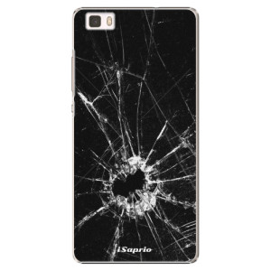 Plastové pouzdro iSaprio Broken Glass 10 na mobil Huawei P8 Lite
