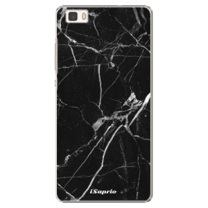 Plastové pouzdro iSaprio Black Marble 18 na mobil Huawei P8 Lite