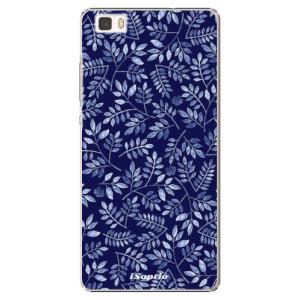 Plastové pouzdro iSaprio Blue Leaves 05 na mobil Huawei P8 Lite