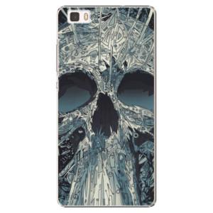 Plastové pouzdro iSaprio Abstract Skull na mobil Huawei P8 Lite