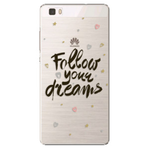 Plastové pouzdro iSaprio Follow Your Dreams black na mobil Huawei P8 Lite