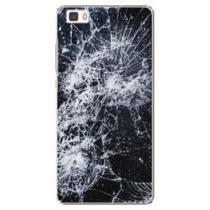 Plastové pouzdro iSaprio Cracked na mobil Huawei P8 Lite
