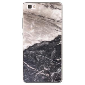 Plastové pouzdro iSaprio BW Marble na mobil Huawei P8 Lite