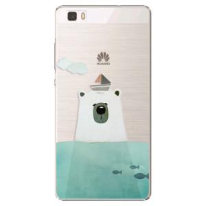 Plastové pouzdro iSaprio Bear With Boat na mobil Huawei P8 Lite