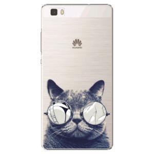 Plastové pouzdro iSaprio Crazy Cat 01 na mobil Huawei P8 Lite