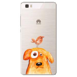 Plastové pouzdro iSaprio Dog And Bird na mobil Huawei P8 Lite