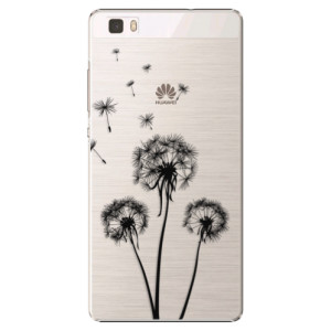 Plastové pouzdro iSaprio Three Dandelions black na mobil Huawei P8 Lite