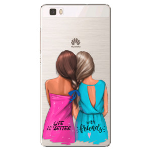 Plastové pouzdro iSaprio Best Friends na mobil Huawei P8 Lite