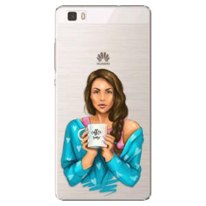 Plastové pouzdro iSaprio Coffe Now Brunette na mobil Huawei P8 Lite