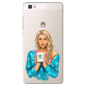 Plastové pouzdro iSaprio Coffe Now Blond na mobil Huawei P8 Lite