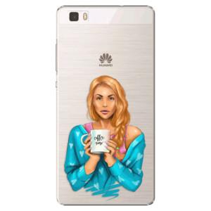 Plastové pouzdro iSaprio Coffe Now Redhead na mobil Huawei P8 Lite