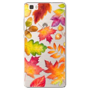 Plastové pouzdro iSaprio Autumn Leaves 01 na mobil Huawei P8 Lite
