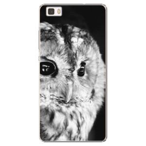 Plastové pouzdro iSaprio BW Owl na mobil Huawei P8 Lite
