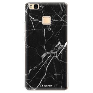 Plastové pouzdro iSaprio Black Marble 18 na mobil Huawei P9 Lite