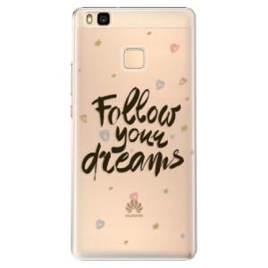 Plastové pouzdro iSaprio Follow Your Dreams black na mobil Huawei P9 Lite