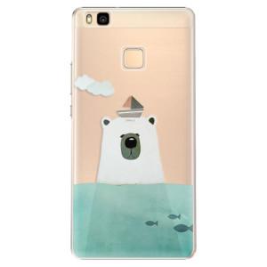 Plastové pouzdro iSaprio Bear With Boat na mobil Huawei P9 Lite